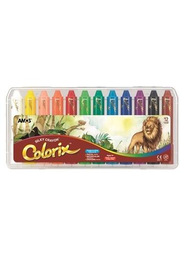 Amos Ucu Bır Arada Boya Colorıx 12Lı Pp Kutu Renkli